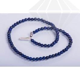 kolok.ro-Colier lapis lazuli de 50 cm cu mărgele rotunde de 6 mm-KD1810-30