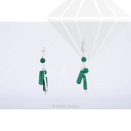 kolok.ro-Cercei handmade cu diferite pietre de jad verde-KDHE23-30