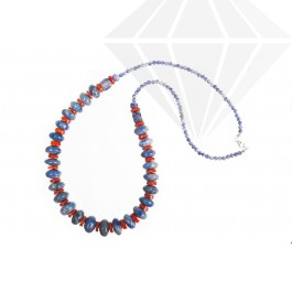 kolok.ro-Colier ATLANTIC cu lapis lazuli și coral-KDK524-30