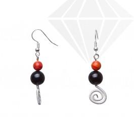kolok.ro-Cercei handmade cu pietre de onix și coral spongios-KDHE84-30