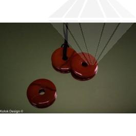 kolok.ro-Pandantiv donut din jasp roșu, cu diametru de 40 mm-KD15972-30