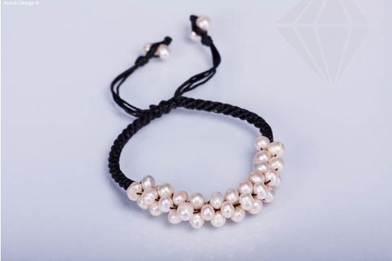 kolok.ro-Brățară ajustabilă din sfoară cerată cu perle de cultură-KDI271-30