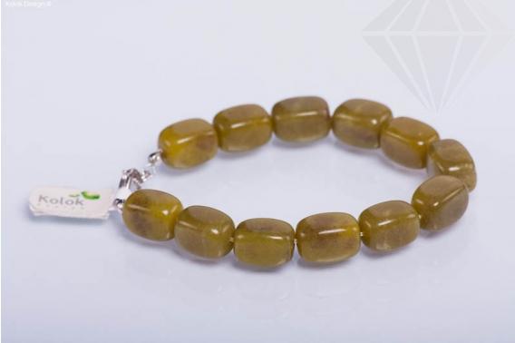 kolok.ro-Brățară jad olive cu mărgele nugget-KD1674-30
