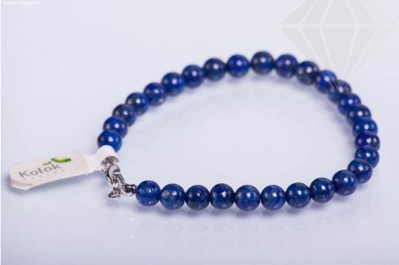 kolok.ro-Brățară lapis lazuli cu mărgele rotunde cu diametru de 6 mm-KD1697-30