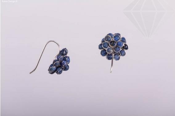 kolok.ro-Cercei model floare cu pietre din lapis lazuli-KDI334-30
