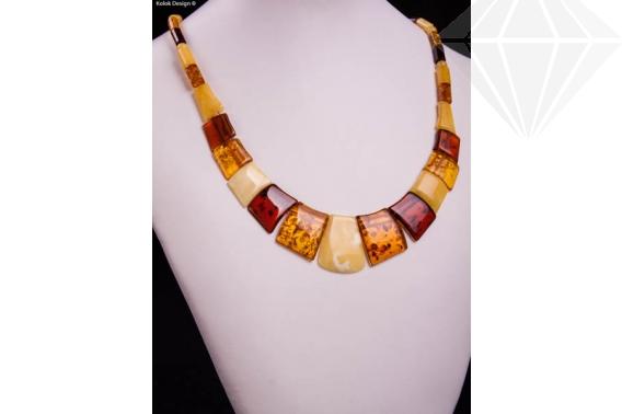 kolok.ro-Colier chihlimbar cu mărgele de diferite culori și rectangulare-KDX0233-30