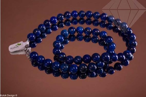 kolok.ro-Colier lapis lazuli de 50cm cu mărgele rotunde de 10mm-KD1495-30