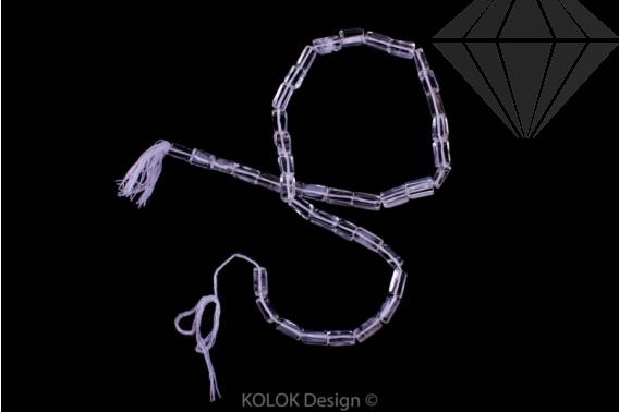 kolok.ro-Mărgele la șirag din cuarț incolor cub-KDS48-31