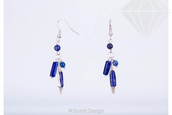 kolok.ro-Cercei handmade cu diferite pietre de lapis lazuli-KDHE24-30