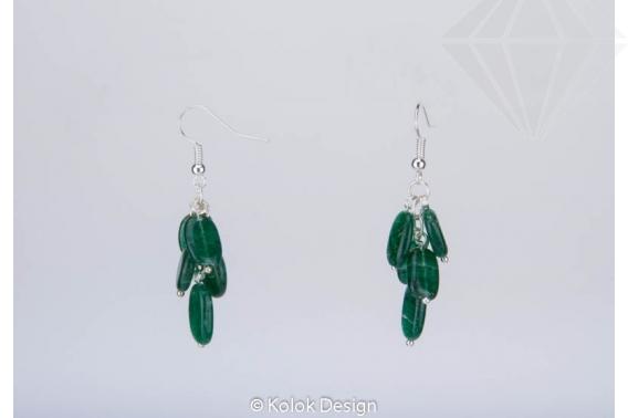 kolok.ro-Cercei handmade cu pietre prețioase ovale de jad verde-KDHE48-30
