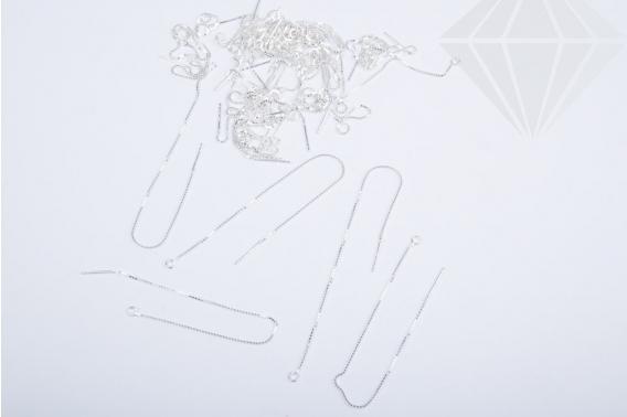 kolok.ro-Tortițe lungi din argint cu lănțișor 925-KDA95-30