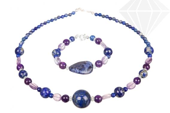 kolok.ro-Set bijuterii cu lapis lazuli și ametist-KDK540-30
