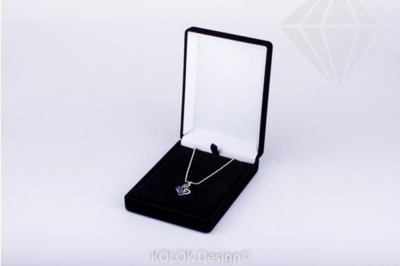 kolok.ro-Cutie mare pentru pandantiv din catifea pe negru-KDB25-30