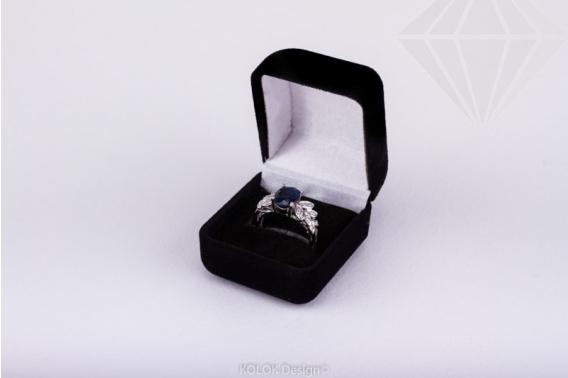 kolok.ro-Cutie pentru inel negru din catifea-KDB24-30