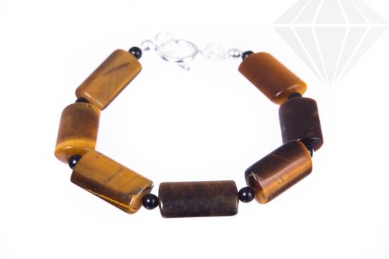 kolok.ro-Brățară pentru bărbați cu pietre de ochi de tigru rectangulare-KDK290-30