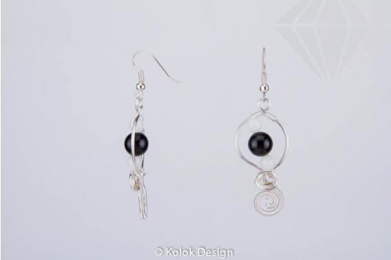 kolok.ro-Cercei ovale handmade cu pietre de onix și jad alb-KDHE65-30