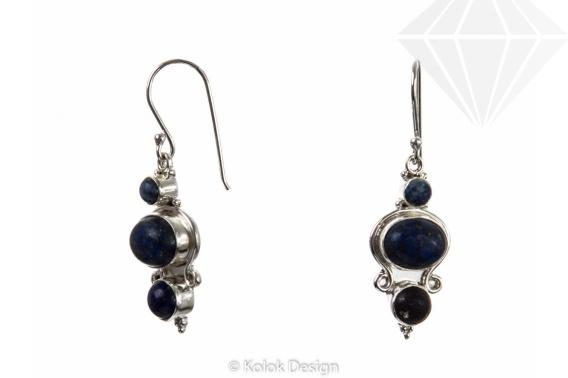 kolok.ro-Cercei argint 925 cu diferite pietre de lapis lazuli-KDP36-30