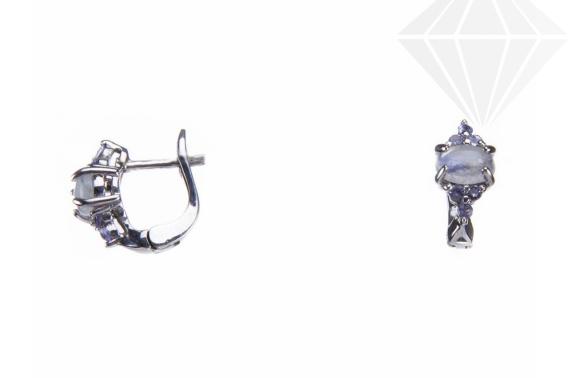 kolok.ro-Cecei argint cu pietre de tanzanit și paitra lunii alb-KDI527-30