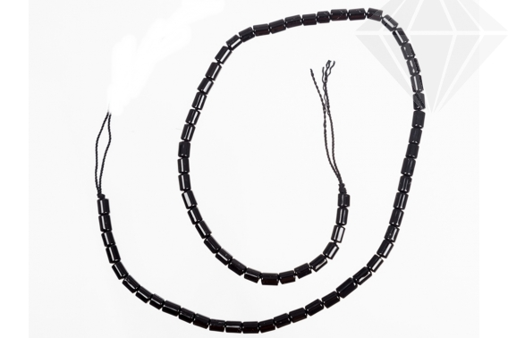 kolok.ro-Șirag turmalină neagră cu mărgele tub-KDSA58-30