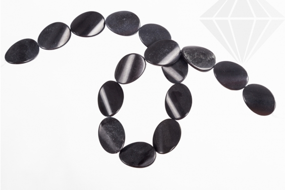 kolok.ro-Șirag onix cu mărgele ondulate-ovale 18x25mm-KD1862-30