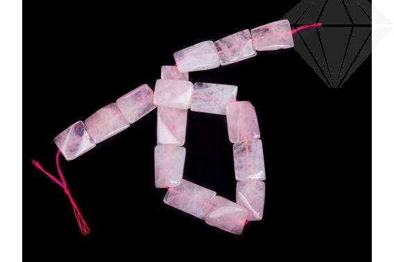 kolok.ro-Șirag cuarț roz cu mărgele rectangulare de 18x25 mm-KD1871-30