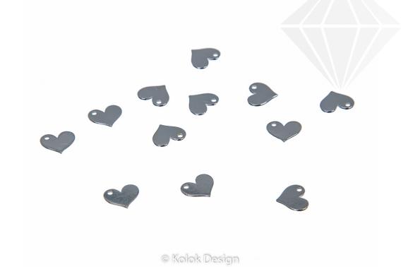 kolok.ro-Charm din argint 925 în formă de inimă plată-KDA93-30