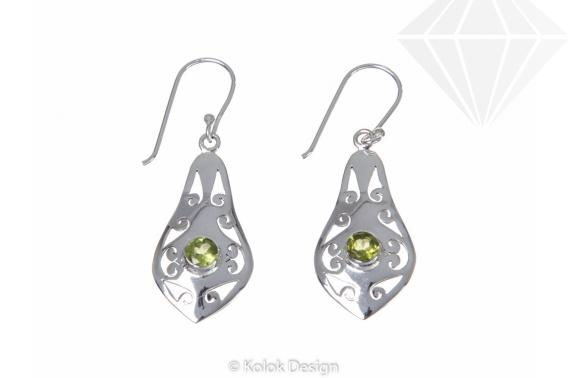 kolok.ro-Cercei Petra din argint 925 cu pietre de peridot-KDP21-30