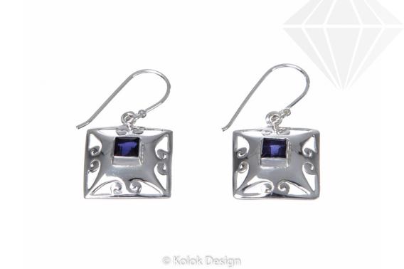 kolok.ro-Cercei Ankara din argint 925 cu pietre de iolit-KDP09-30