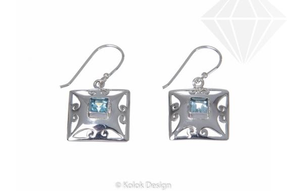 kolok.ro-Cercei Ankara din argint 925 cu pietre de topaz albastru-KDP08-30