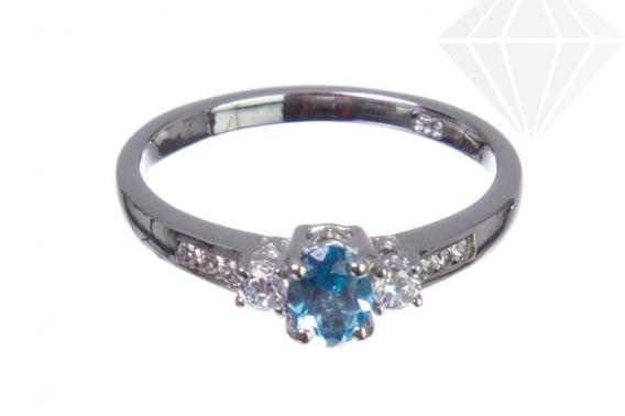 kolok.ro-Inel argint cu piatră prețioasă de topaz Swiss Blue mărime 6-KDI587-30
