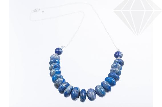 kolok.ro-Colier statement din argint cu rondele de lapis lazuli-KDK255-30