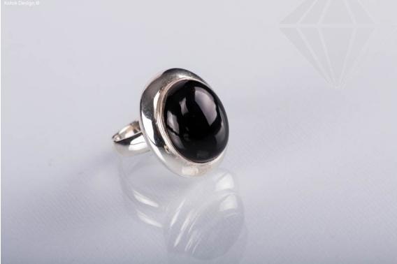kolok.ro-Inel oval din argint cu piatra de onix, mărime 7-KDI368-30
