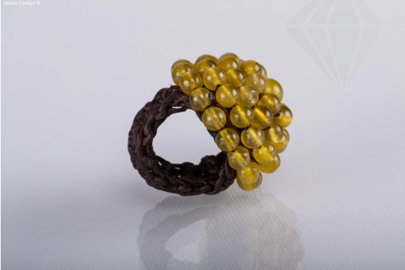 kolok.ro-Inel statement cu pietre din jad oliv-KDI331-30