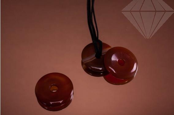kolok.ro-Pandantiv donut din carneol, cu diametru de 30 mm-KD15962-30