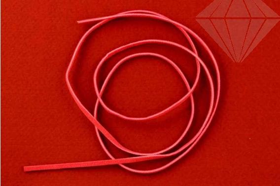 kolok.ro-Șnur de piele plat – roșu-KD16621-30