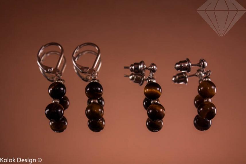 kolok.ro-Cercei ochi de tigru cu două mărgele-KONFE14-30