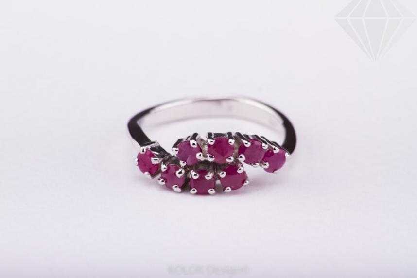 kolok.ro-Inel din argint cu pietricele de rubin, marime 7-KDI431-30