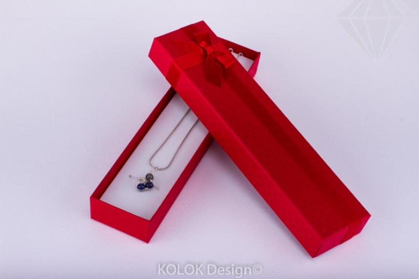 kolok.ro-Cutie pentru brățară din carton cu fundiță roșie-KDB18-30