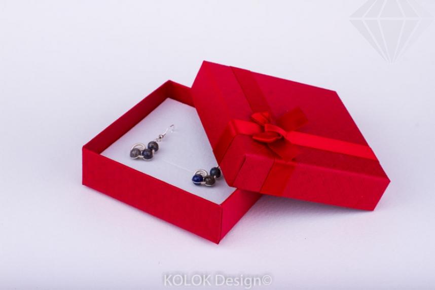 kolok.ro-Cutie pentru set mic cu fundiță roșie-KDB20-30