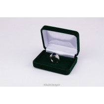 kolok.ro-Cutiuță din catifea verde pentru inel-KDB39-20