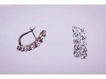 kolok.ro-Cercei duble din argint cu pietre de topaz albastru-KDI211-20