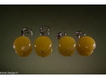 kolok.ro-Cercei jad cu mărgele rotunde și plate, închizătoare șurub-KD10117-20