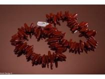 kolok.ro-Colier din jasp roșu cu mărgele de bețișoare-KONFC138-20
