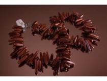 kolok.ro-Colier goldstone maro cu mărgele de bețișoare-KONFC136-20