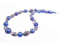 kolok.ro-Colier statement cu lapis lazuli și pirit-KDK222-20