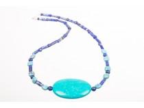 kolok.ro-Colier BLUE din argint cu mărgele de lapis lazuli și turcoaz veritabil-KDK272-20
