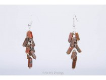kolok.ro-Cercei handmade cu pietre de unakit în formă de cub-KDHE35-20