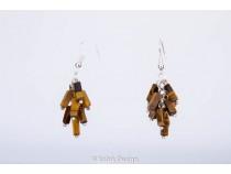 kolok.ro-Cercei handmade cu pietre de ochi de tigru în formă de cub-KDHE30-20