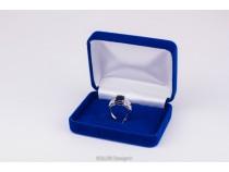 kolok.ro-Cutiuță din catifea albastru pentru inel-KDB41-20