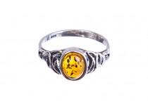 kolok.ro-Inel argint în stil vintage cu o piatră de chihlimbar coniac,7-KDUK230-20